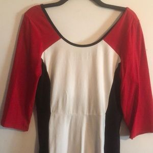 Express Red, White, Black Dress